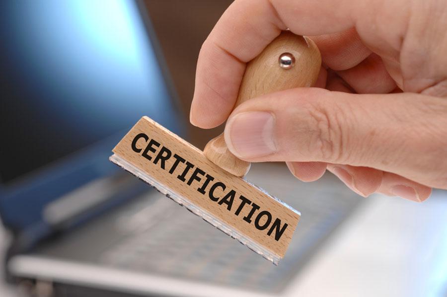 Certificato originale ATP